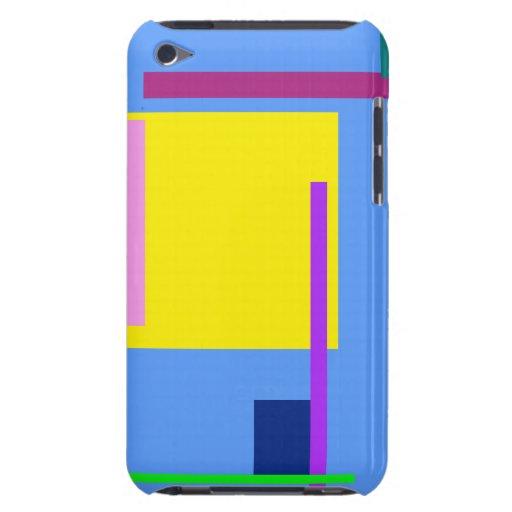 Konstnärliga utrymmehimmelblått iPod touch cases