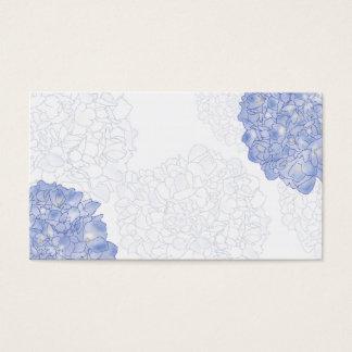 Konstnärliga vanlig hortensiaställekort, medel visitkort