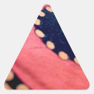 Konstnärligt abstrakt tyg triangelformat klistermärke