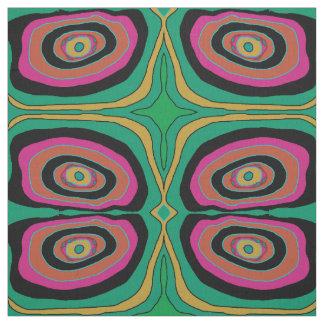 Konstnärligt cirklar rosa green/gult-/black>tyg tyg