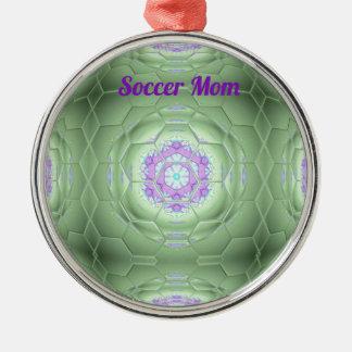 Konstnärligt mönster för chic 'fotbollmammagrönt julgransprydnad metall