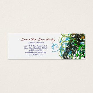 Konstnärligt profilera kortet litet visitkort