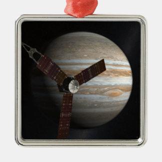 Konstnärs begrepp av det Juno rymdskepp Julgransprydnad Metall