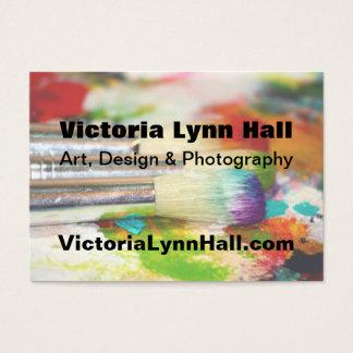 Konstnärs verktygfotografi visitkort