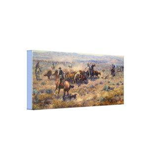 KonstRoundup av Charles Marion Russell Canvastryck