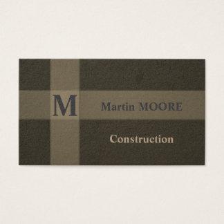 Konstruktion hårdnar bygga hård ytastil visitkort