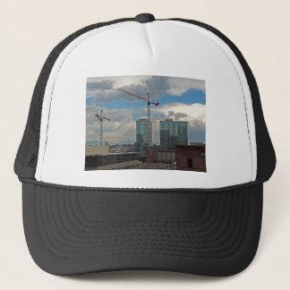 Konstruktion i i stadens centrum Denver Colorado Truckerkeps