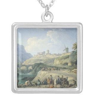 Konstruktionen av en väg, 1774 silverpläterat halsband