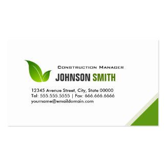 Konstruktionschef - elegant modern grönt set av standard visitkort