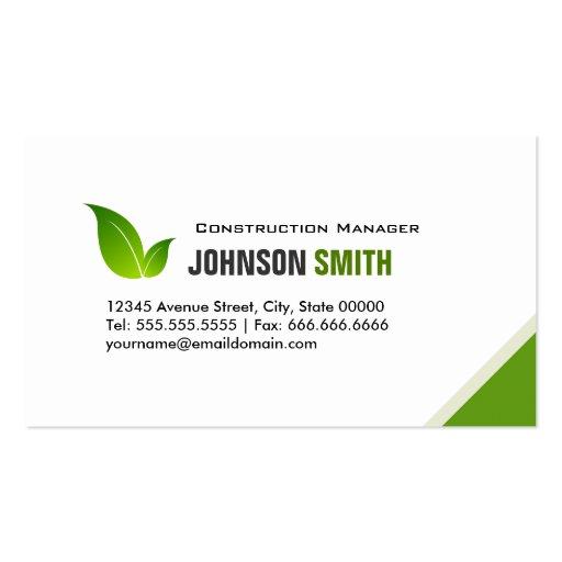 Konstruktionschef - elegant modern grönt visitkort mallar