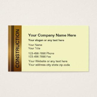 Konstruktionsvisitkortar Visitkort