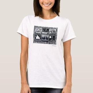 KonstTshirt: Cornish tryck för fartygLino snitt Tee Shirt