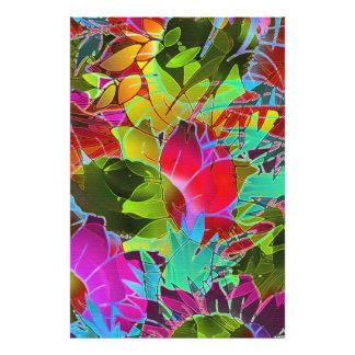 Konstverk för abstrakt för fototryckblommigt fototryck