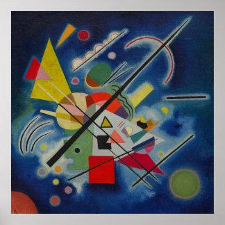Konstverk för abstrakt för Kandinsky blåttmålning Poster