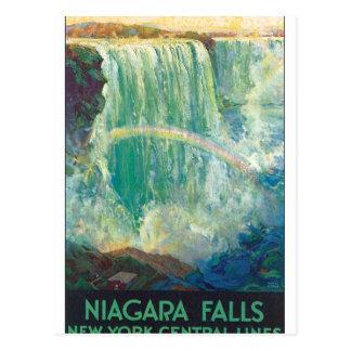 Konstverk för affisch för Niagra nedgångvintage Vykort