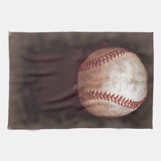 Konstverk för baseball för vintagestilSepia Kökshandduk