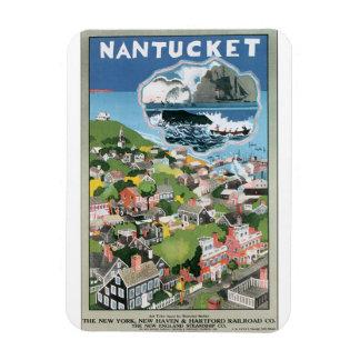 Konstverk för Nantucket vintage resoraffisch Magnet