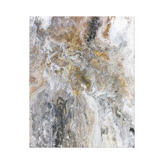 Konstverk för vit för abstrakt målninggråttsvart canvastryck