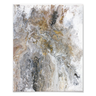 Konstverk för vit för abstrakt målninggråttsvart fototryck