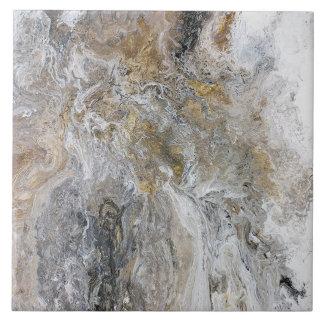 Konstverk för vit för abstrakt målninggråttsvart kakelplatta