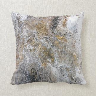 Konstverk för vit för abstrakt målninggråttsvart kudde