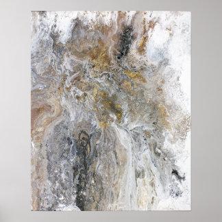Konstverk för vit för abstrakt målninggråttsvart poster