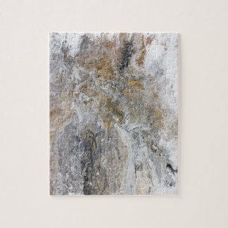 Konstverk för vit för abstrakt målninggråttsvart pussel