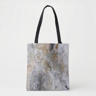 Konstverk för vit för abstrakt målninggråttsvart tygkasse