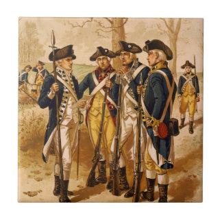 Kontinentala soldater av Henry Alexander Ogden Kakelplatta