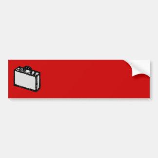 Kontorsportföljen eller reser resväska. Skissa på  Bildekal