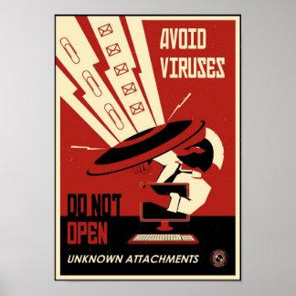 Kontorspropaganda: Undvik nedladdningar Poster