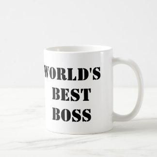 Kontorsvärldens bäst chef vit mugg