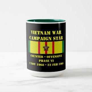 Kontra - offensiven arrangerar gradvis kampanj VI Två-Tonad Mugg