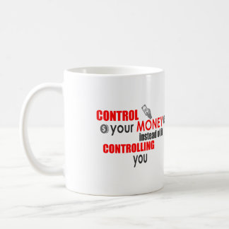 Kontrollera din pengarKAFFEMUGG i RÖDA Dave Ramsey Kaffemugg