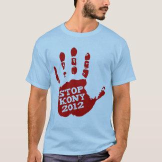 Kony 2012 röda Handprint stopp Joseph Kony T-shirts