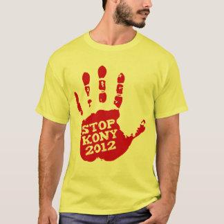Kony 2012 röda Handprint stopp Joseph Kony Tee Shirt