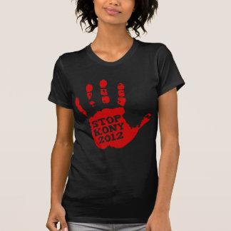 Kony 2012 röda Handprint stopp Joseph Kony Tee Shirts