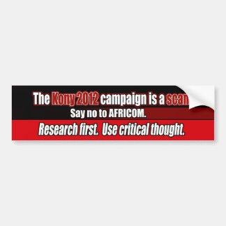 Kony 2012 Scam, anti-AFRICOM bildekal