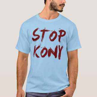 Kony 2012 stopp röda blodiga Joseph Kony Tee Shirts