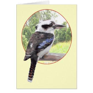 Kookaburra cirklar in hälsningskort