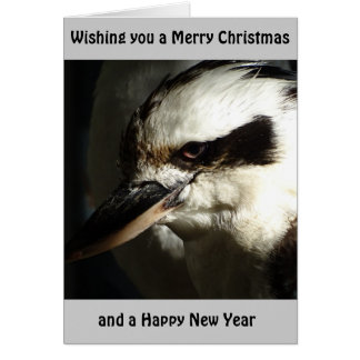 Kookaburra julaftonkort hälsningskort
