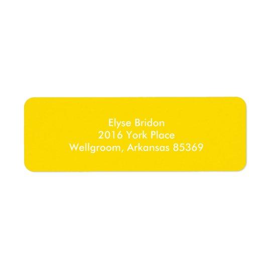 Koordinera för färg för guld- gult bästa returadress etikett