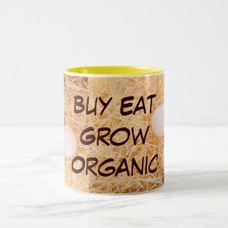 Köp äter växer den organiska muggen Två-Tonad mugg