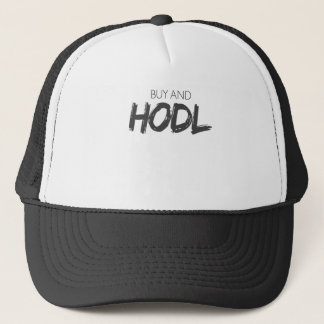 Köp och Hodl Bitcoin Cryptocurrency tryck Keps
