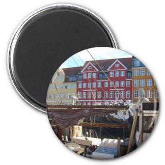 Köpenhamn Danmark Magnet Rund 5.7 Cm