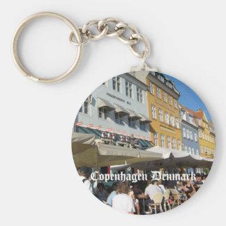Köpenhamn Danmark Rund Nyckelring