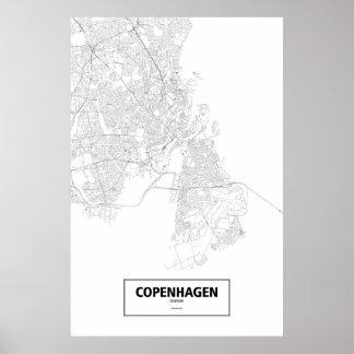 Köpenhamn Danmark (svarten på vit) Poster