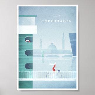 Köpenhamnvintage resoraffisch poster