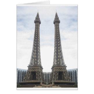KOPIAEffel torn Las Vegas, Nevada, Amerika GIF Hälsningskort