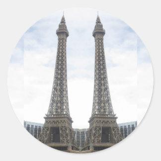 KOPIAEffel torn Las Vegas, Nevada, Amerika GIF Runt Klistermärke